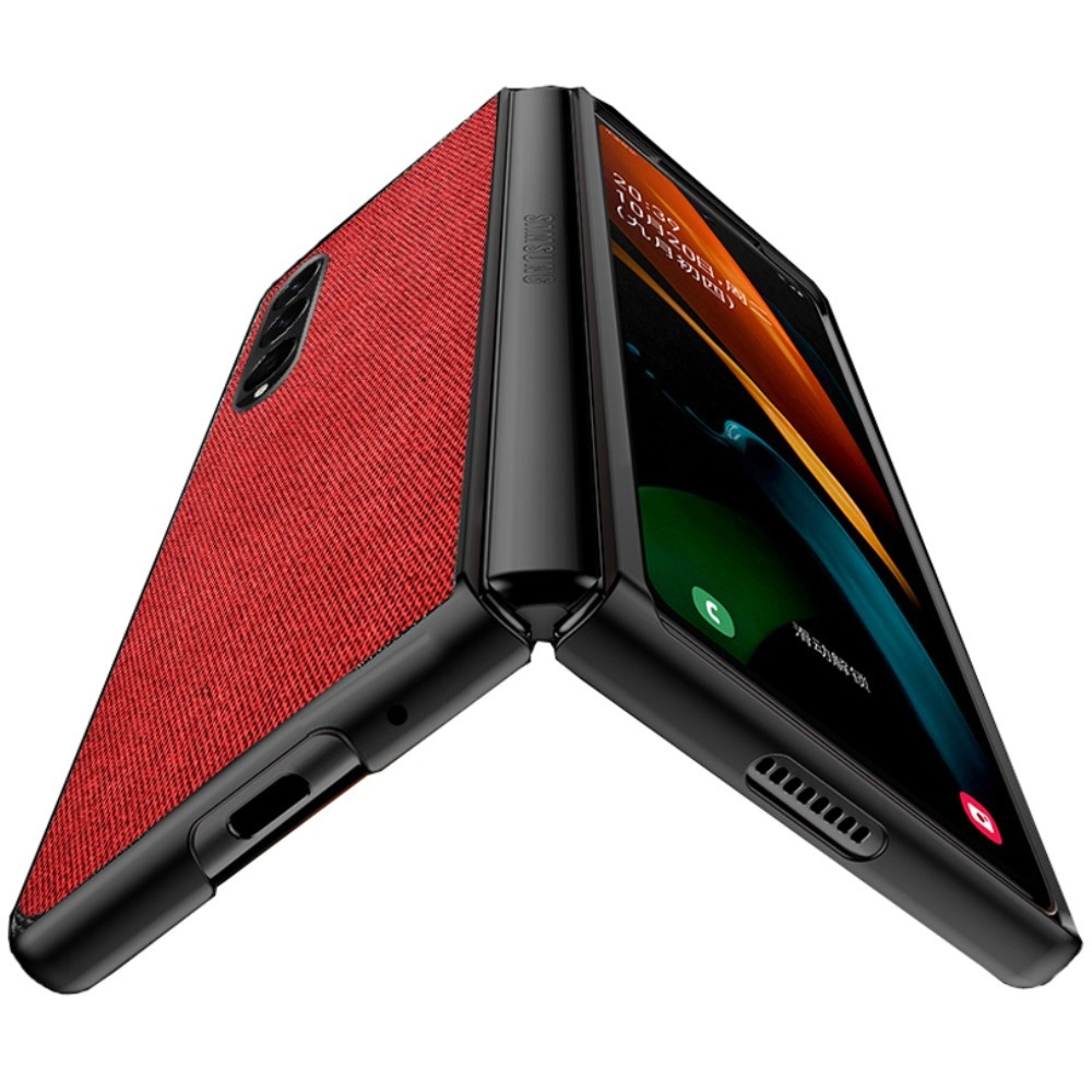 Lunso Samsung Galaxy Z Fold3 Canvas cover hoes Rood