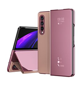 Lunso Lunso - Window view cover hoes - Samsung Galaxy Z Fold3 - Rose Goud