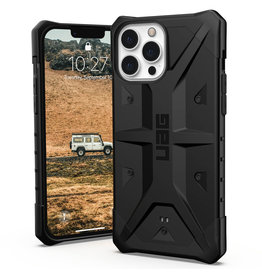 Urban Armor Gear UAG - Pathfinder backcover hoes - iPhone 13 Pro Max - Zwart + Lunso Tempered Glass