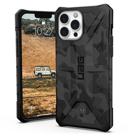 Urban Armor Gear UAG - Pathfinder backcover hoes - iPhone 13 Pro Max - Camouflage Grijs + Lunso Tempered Glass