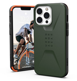 Urban Armor Gear UAG - Civilian backcover hoes - iPhone 13 Pro - Groen + Lunso Tempered Glass