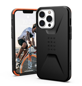 Urban Armor Gear UAG - Civilian backcover hoes - iPhone 13 Pro - Zwart + Lunso Tempered Glass