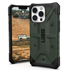 Urban Armor Gear UAG - Pathfinder backcover hoes - iPhone 13 Pro - Groen + Lunso Tempered Glass