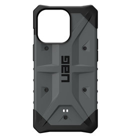 Urban Armor Gear UAG - Pathfinder backcover hoes - iPhone 13 Pro - Zilver + Lunso Tempered Glass
