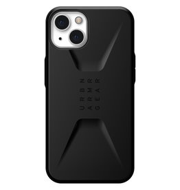 Urban Armor Gear UAG - Civilian backcover hoes - iPhone 13 - Zwart + Lunso Tempered Glass