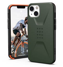 Urban Armor Gear UAG - Civilian backcover hoes - iPhone 13 - Groen + Lunso Tempered Glass