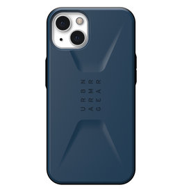 Urban Armor Gear UAG - Civilian backcover hoes - iPhone 13 - Blauw + Lunso Tempered Glass