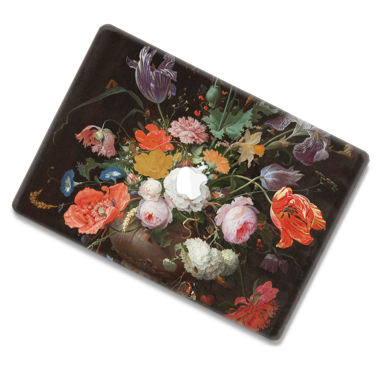 Lunso MacBook Air 13 inch (2010-2017) cover beschermhoes Stilleven Met Bloemen