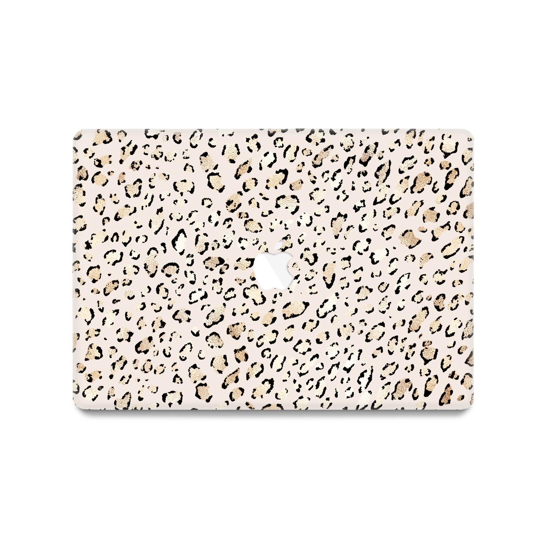 Lunso MacBook Air 13 inch (2010-2017) cover beschermhoes Leopard Rose Gold
