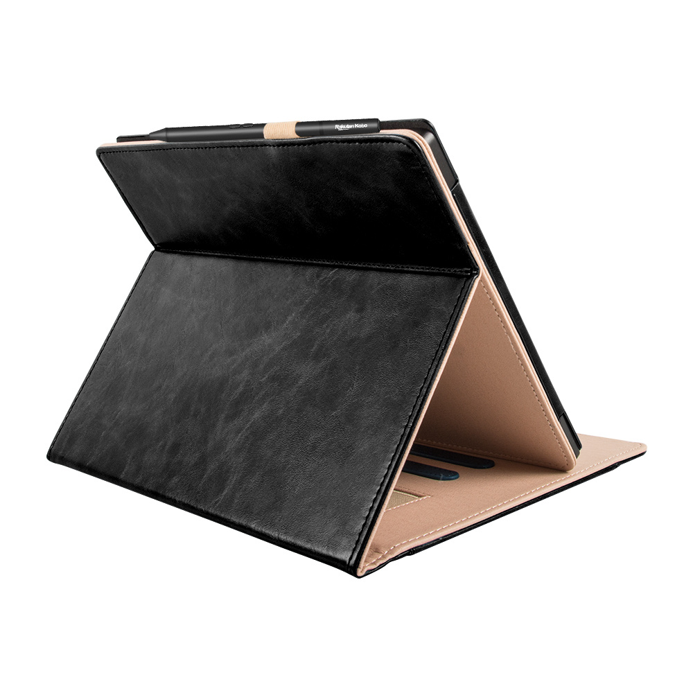 Lunso Kobo Elipsa (10.3 inch) Luxe Sleepcover stand hoes Zwart