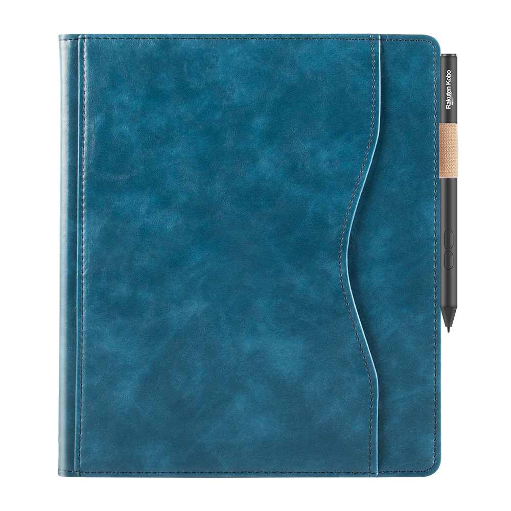 Lunso Kobo Elipsa (10.3 inch) Luxe Sleepcover stand hoes Blauw
