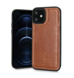 NorthLife NorthLife - Mastreit Lederen backcover hoes - iPhone 12 Mini - Cognac