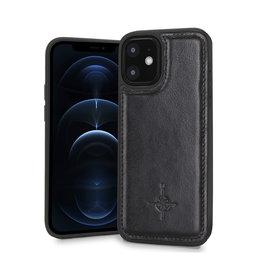 NorthLife NorthLife - Mastreit Lederen backcover hoes - iPhone 12 Mini - Zwart
