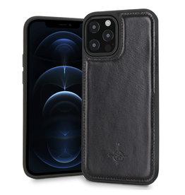 NorthLife NorthLife - Mastreit Lederen backcover hoes - iPhone 12 Pro Max - Zwart