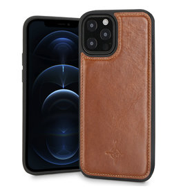 NorthLife NorthLife - Mastreit Lederen backcover hoes - iPhone 12 / iPhone 12 Pro - Cognac