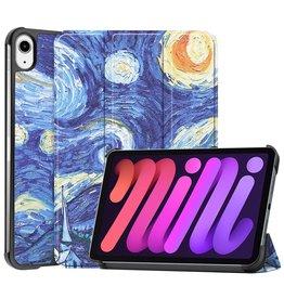 Lunso 3-Vouw sleepcover hoes - iPad Mini 6 (2021) - Van Gogh Schilderij