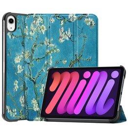 Lunso 3-Vouw sleepcover hoes - iPad Mini 6 (2021) - Van Gogh Amandelboom