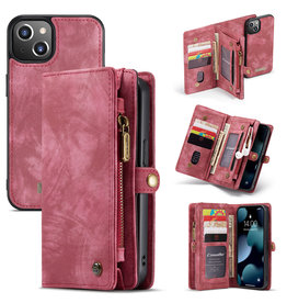 Caseme Caseme - vintage 2 in 1 portemonnee hoes - iPhone 12 Mini - Rood
