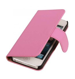 Bookwallet hoes iPhone SE / 5(s) roze