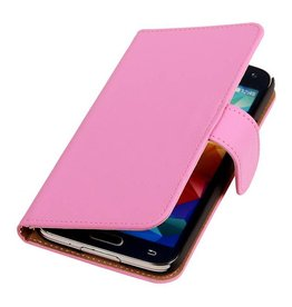 Bookwallet hoes Samsung Galaxy S5 roze