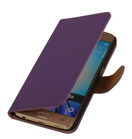 Bookwallet hoes Samsung Galaxy S6 paars