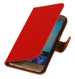 Bookwallet hoes Samsung Galaxy S6 rood