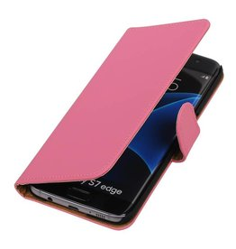 Bookwallet hoes Samsung Galaxy S7 Edge roze