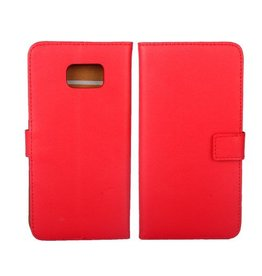 Bookwallet hoes Samsung Galaxy S6 Edge Plus rood