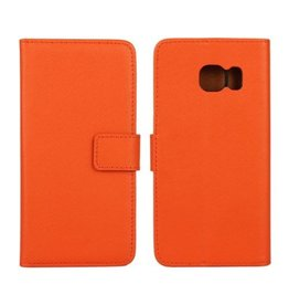 Bookwallet hoes Samsung Galaxy S6 Edge oranje