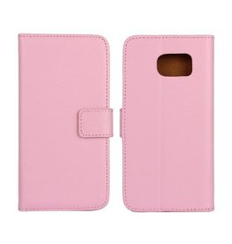 Bookwallet hoes Samsung Galaxy S6 lichtroze