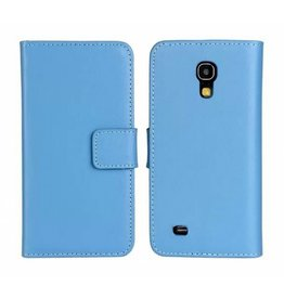 Bookwallet hoes Samsung Galaxy S4 Mini lichtblauw