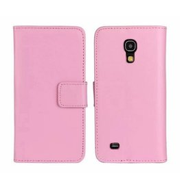 Bookwallet hoes Samsung Galaxy S4 Mini lichtroze