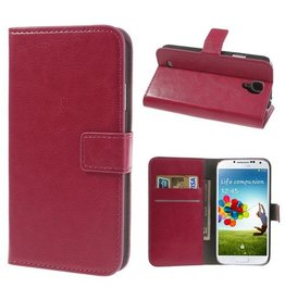 Bookwallet hoes Samsung Galaxy S4 roze