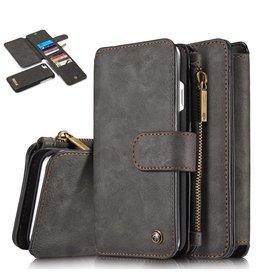Caseme Caseme luxe portemonnee hoes iPhone 7 / 8 / SE (2020) zwart