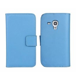 Bookwallet hoes Samsung Galaxy S3 Mini lichtblauw