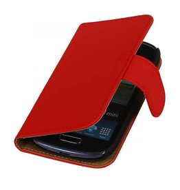 Bookwallet hoes Samsung Galaxy S3 Mini rood