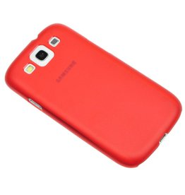Ultra dunne hardcase hoes Samsung Galaxy S3 rood
