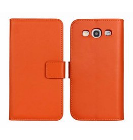 Bookwallet hoes Samsung Galaxy S3 oranje