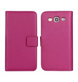 Bookwallet hoes Samsung Galaxy S3 roze