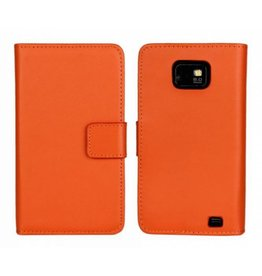 Bookwallet hoes Samsung Galaxy S2 oranje