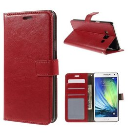 Bookwallet hoes Samsung Galaxy A7 rood