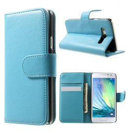 Bookwallet hoes Samsung Galaxy A3 2015 lichtblauw