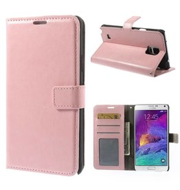 Bookwallet hoes Samsung Galaxy Note 4 lichtroze