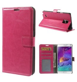 Bookwallet hoes Samsung Galaxy Note 4 roze