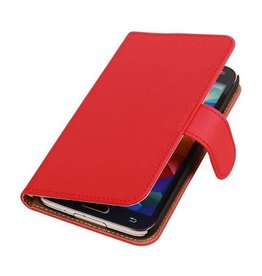 Bookwallet hoes Samsung Galaxy Note 4 rood