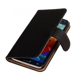 Bookwallet bark zwart hoes Samsung Galaxy Note 4