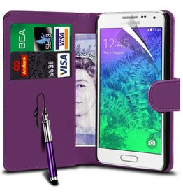 Bookwallet hoes Samsung Galaxy Alpha paars