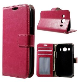 Bookwallet hoes Samsung Galaxy Ace 4 roze