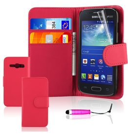 Bookwallet hoes Samsung Galaxy Ace 3 roze