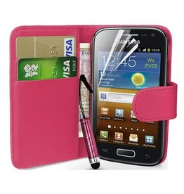 Bookwallet hoes Samsung Galaxy Ace 2 roze